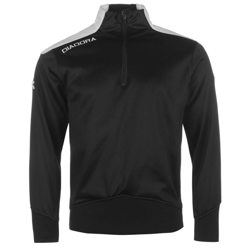 Diadora Idaho Half Zip Sweater Mens Black/White