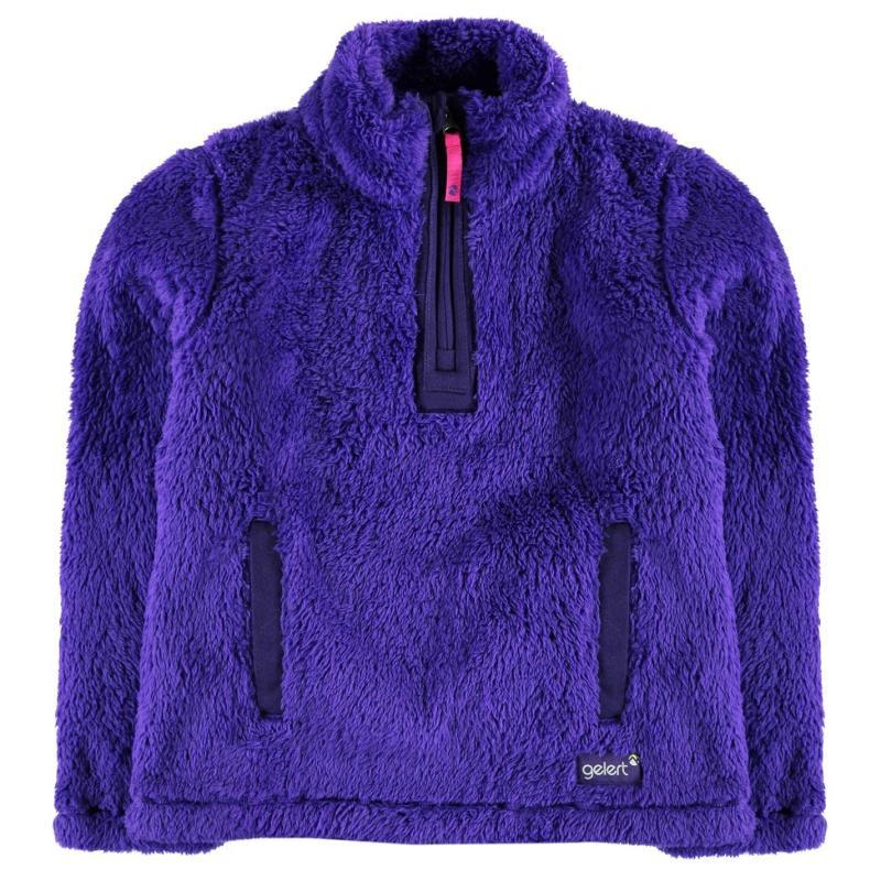 Gelert Yukon Micro Fleece Top Juniors Purple