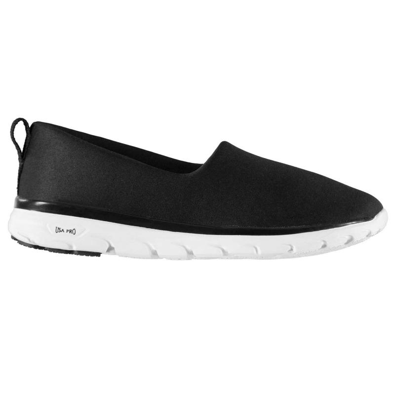 Obuv USA Pro Iolite Slip On Ladies Shoes Black/White