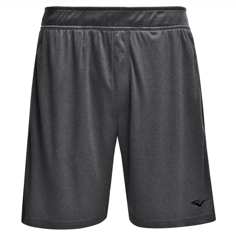 Everlast Poly Shorts Mens Grey Marl/Black