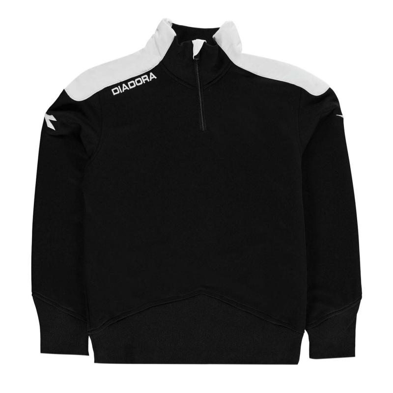 Bunda Diadora Idaho Sweater Zip Top Junior Boys Black/White