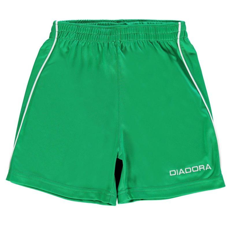 Kraťasy Diadora Madrid Shorts Junior Boys Green/White