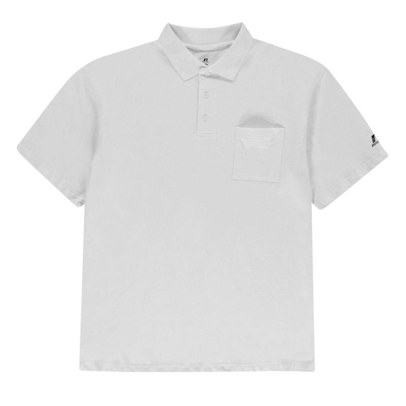 Russell Athletic XL Polo Shirt Mens White