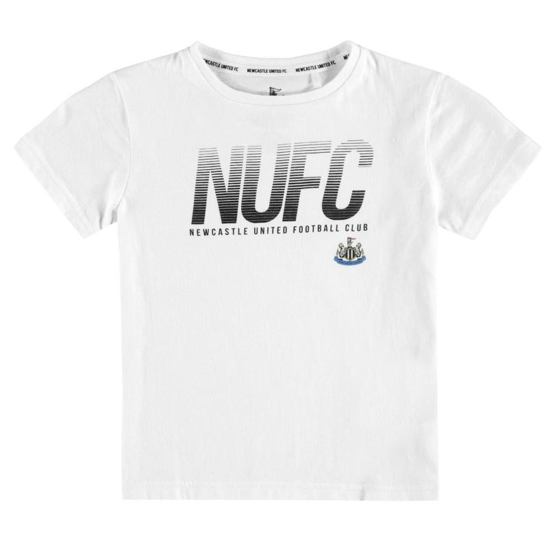 NUFC Lined T Shirt Infant Boys White