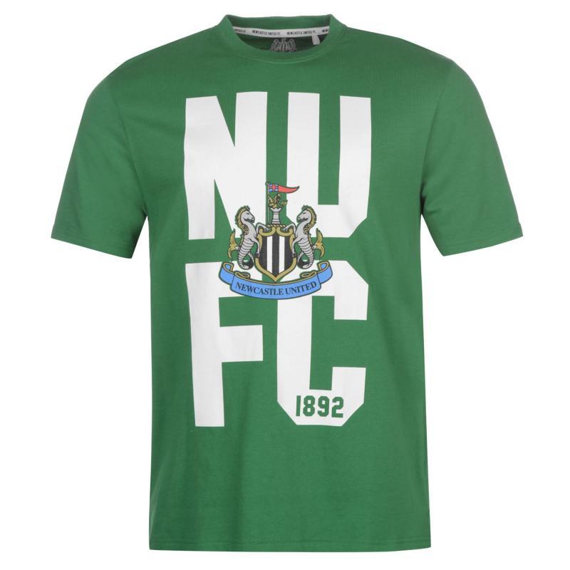Tričko NUFC Newcastle United Crest T Shirt Mens White