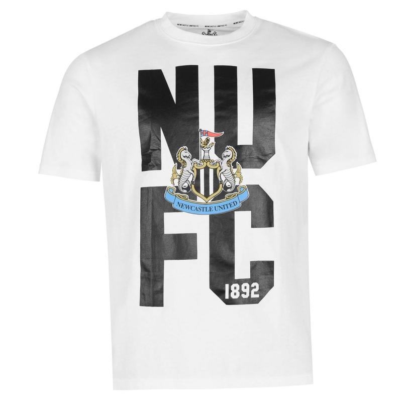 Tričko NUFC Newcastle United Crest T Shirt Mens Green