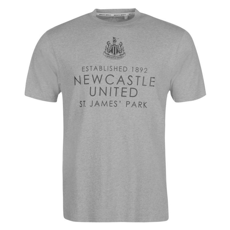 Tričko NUFC Newcastle United Est Tee Mens Grey