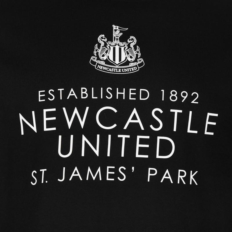 Tričko NUFC Newcastle United Est Tee Mens Black