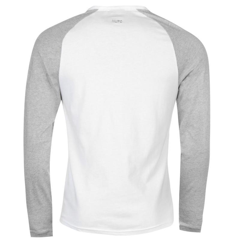 Tričko NUFC NUFC Long Sleeve T Shirt Mens White