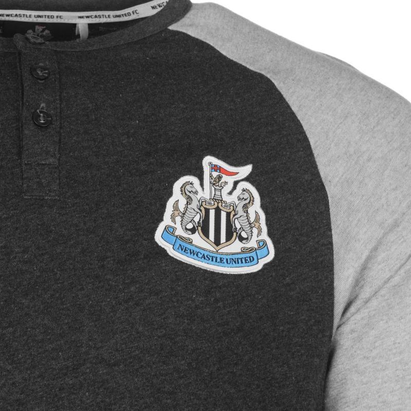 Tričko NUFC NUFC Long Sleeve T Shirt Mens Grey