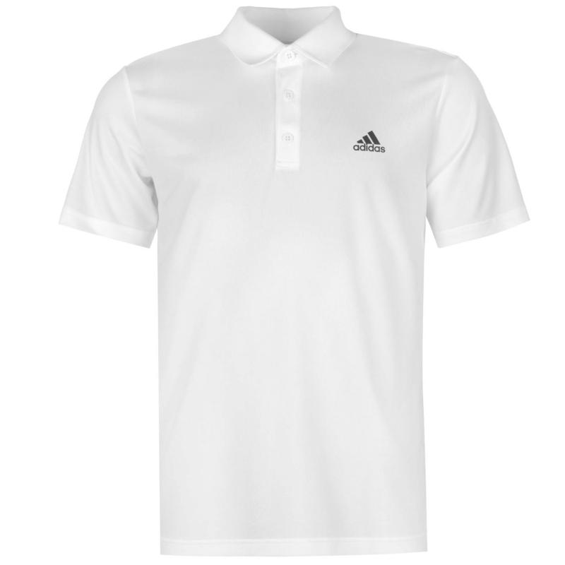 Adidas Mens Tennis Fab Polo Shirt White