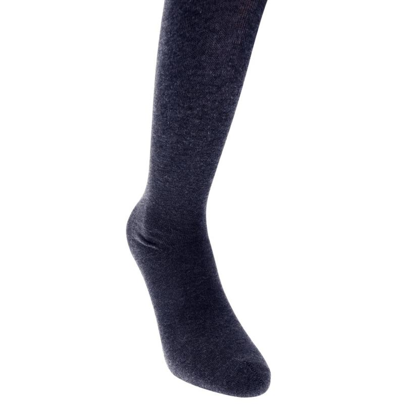 Crafted Essentials 2 Pairs of Supersoft Grey Tights Navy
