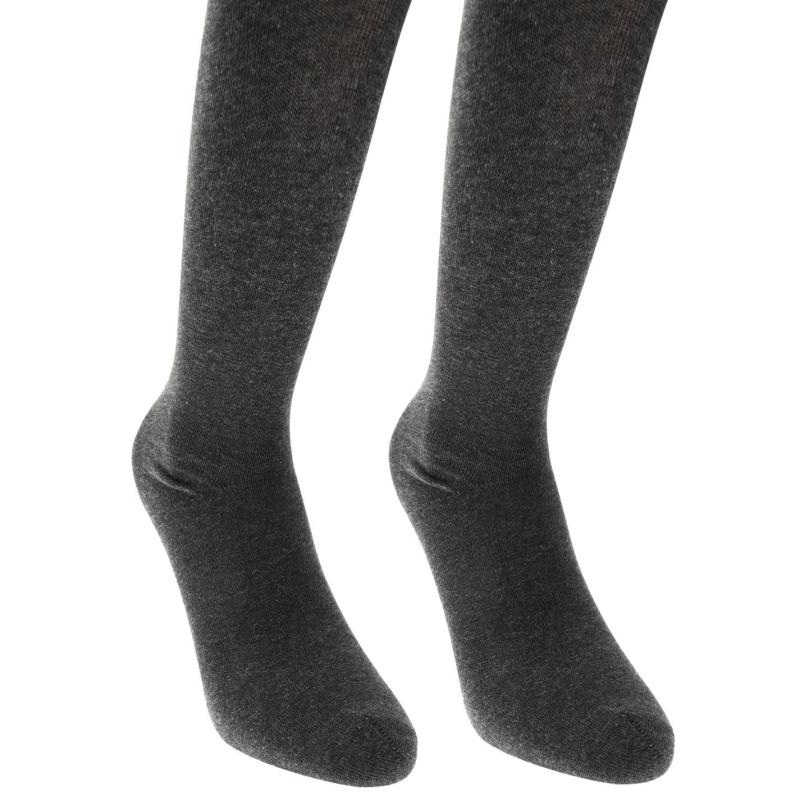 Crafted Essentials 2 Pairs of Supersoft Grey Tights Grey