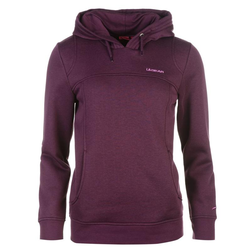 Mikina s kapucí LA Gear Over The Head Hoody Ladies Purple