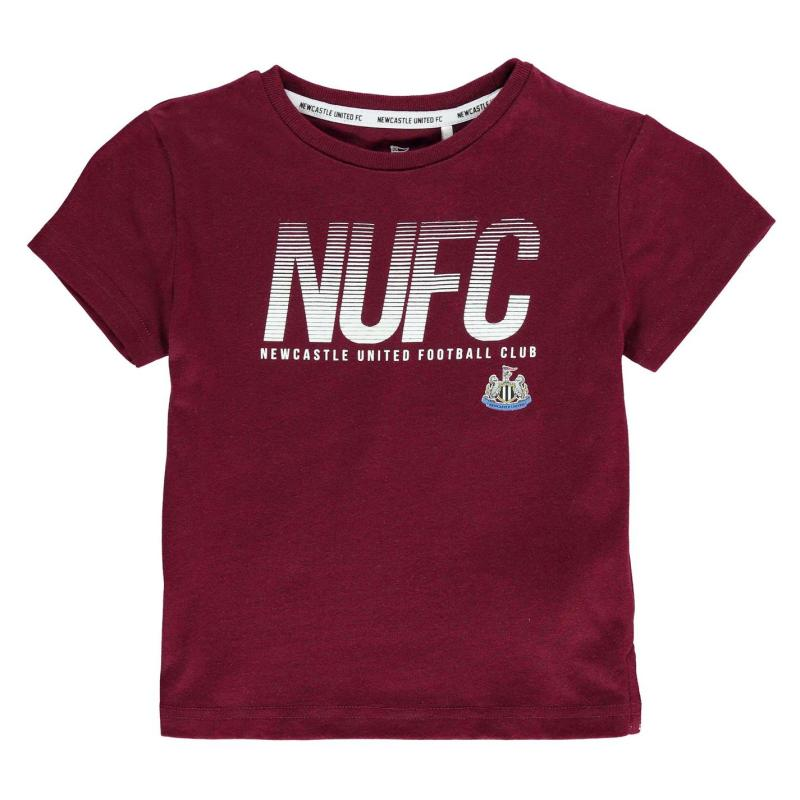 NUFC Lined T Shirt Infant Boys Maroon