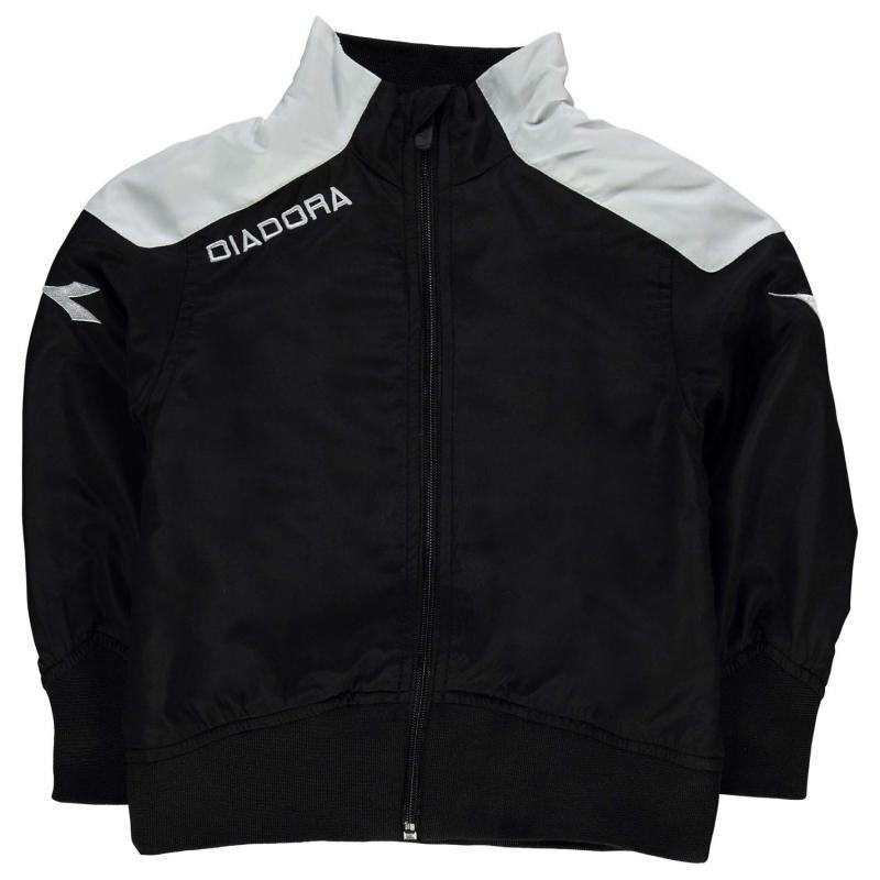 Tepláky Diadora Minneote Jacket Junior Boys Black/White