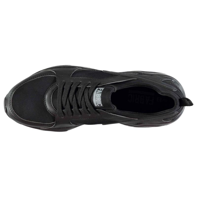 Fabric Himroo Mens Trainers Black/Black