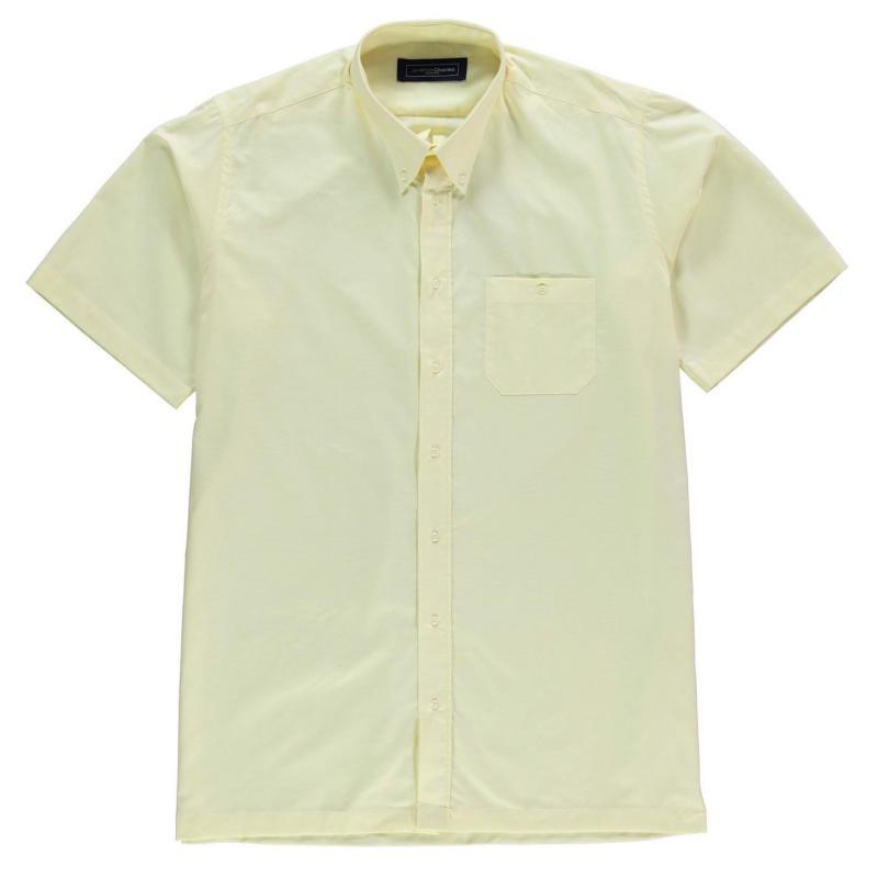 Jonathon Charles Short Sleeve Oxford Collar Shirt Mens Turqoise