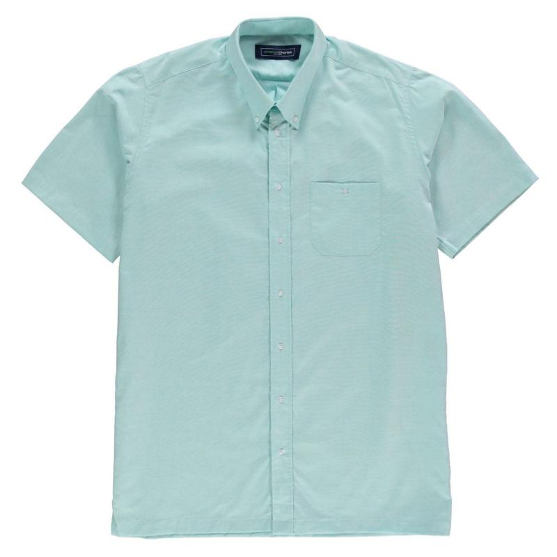 Jonathon Charles Short Sleeve Oxford Collar Shirt Mens White