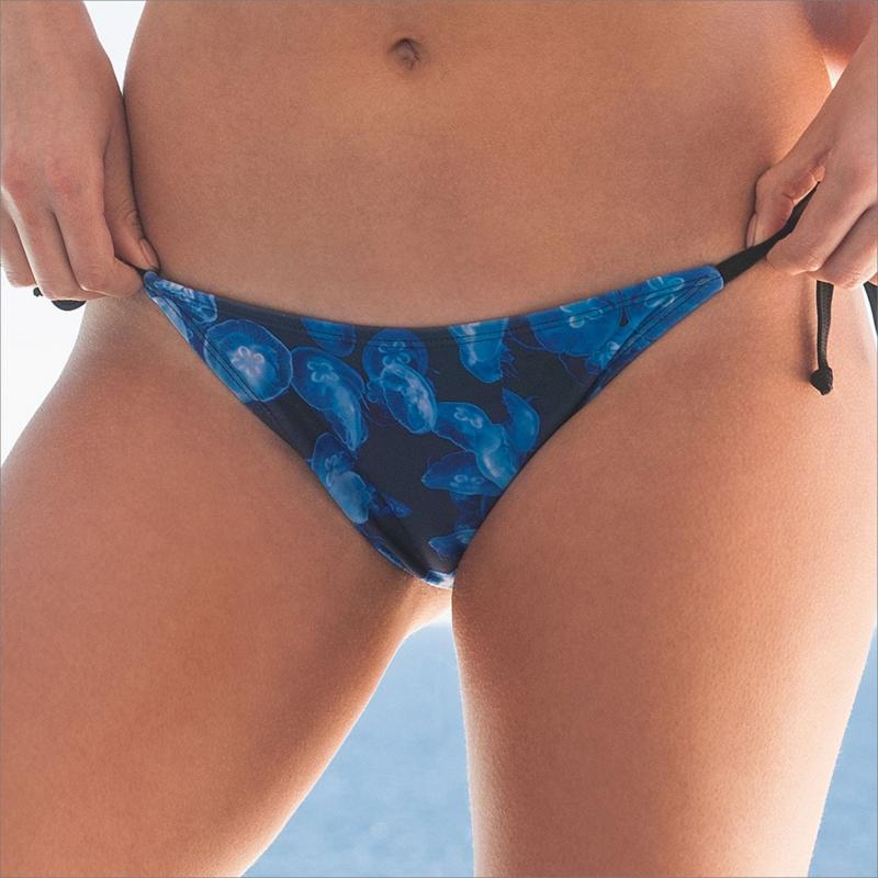 Plavky SportFX Jellyfish Bikini Bottoms Blue Print