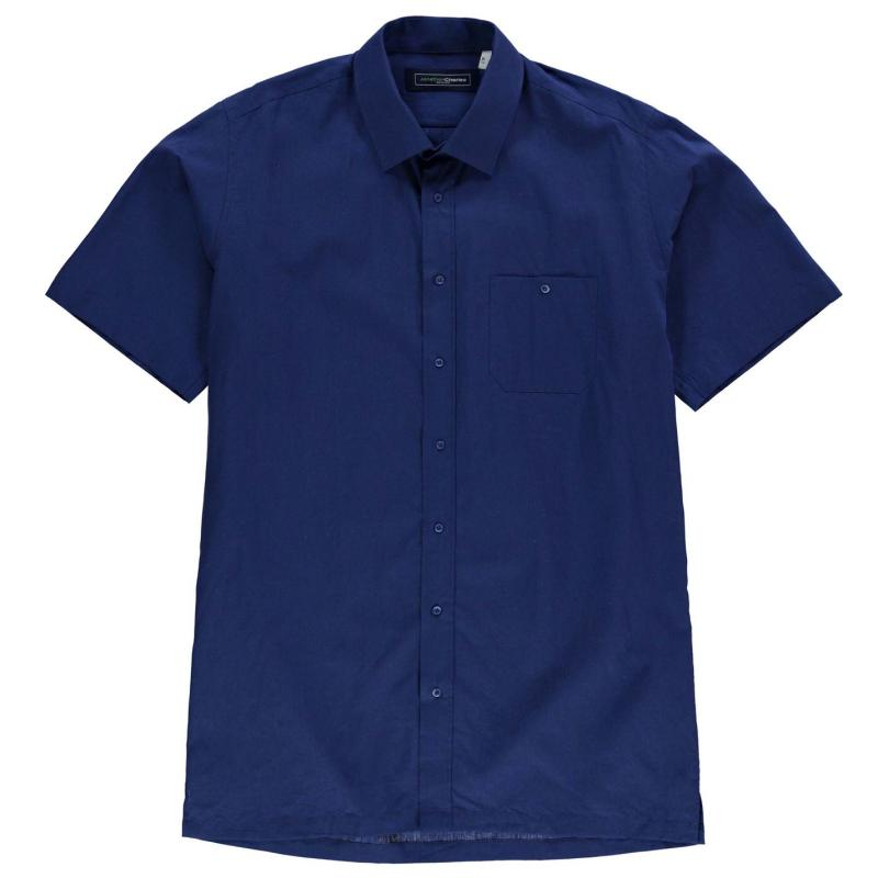 Jonathon Charles Short Sleeve Linen Mix Shirt Mens Pink