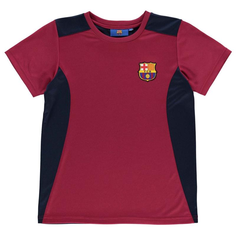 Source Lab Lab Barcelona T Shirt Junior Boys Deep Red