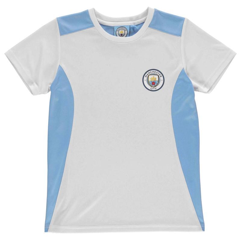 Source Lab Machester City T Shirt Junior Boys Sky