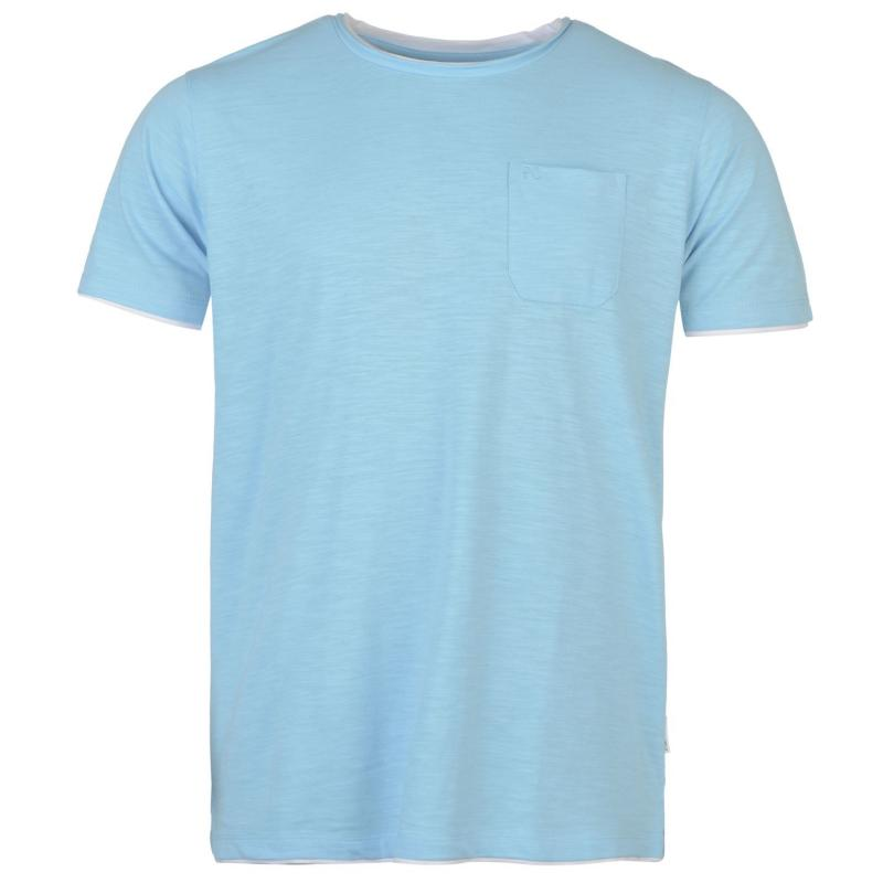 Tričko Pierre Cardin Layered Crew Neck Tshirt Mens Blue Marl