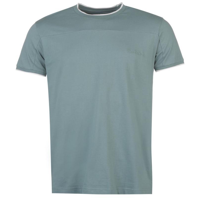 Tričko Pierre Cardin Panelled T Shirt Mens Sage