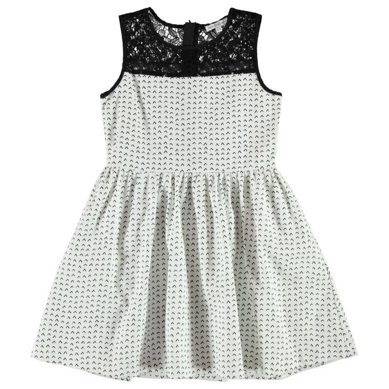 Šaty French Connection AOP Dress White/Black