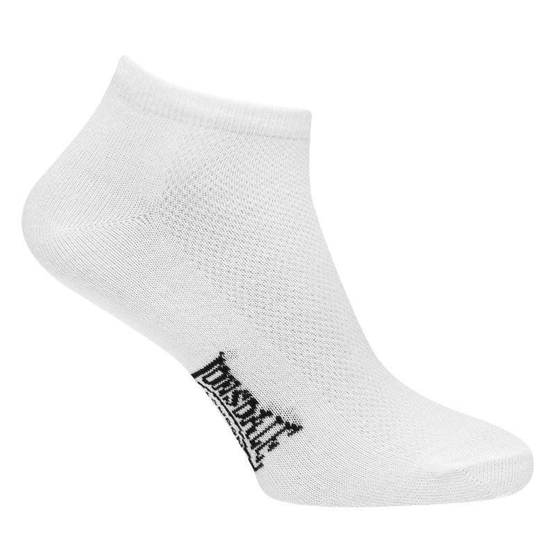 Ponožky Lonsdale 5 Pack Trainer Socks Mens White