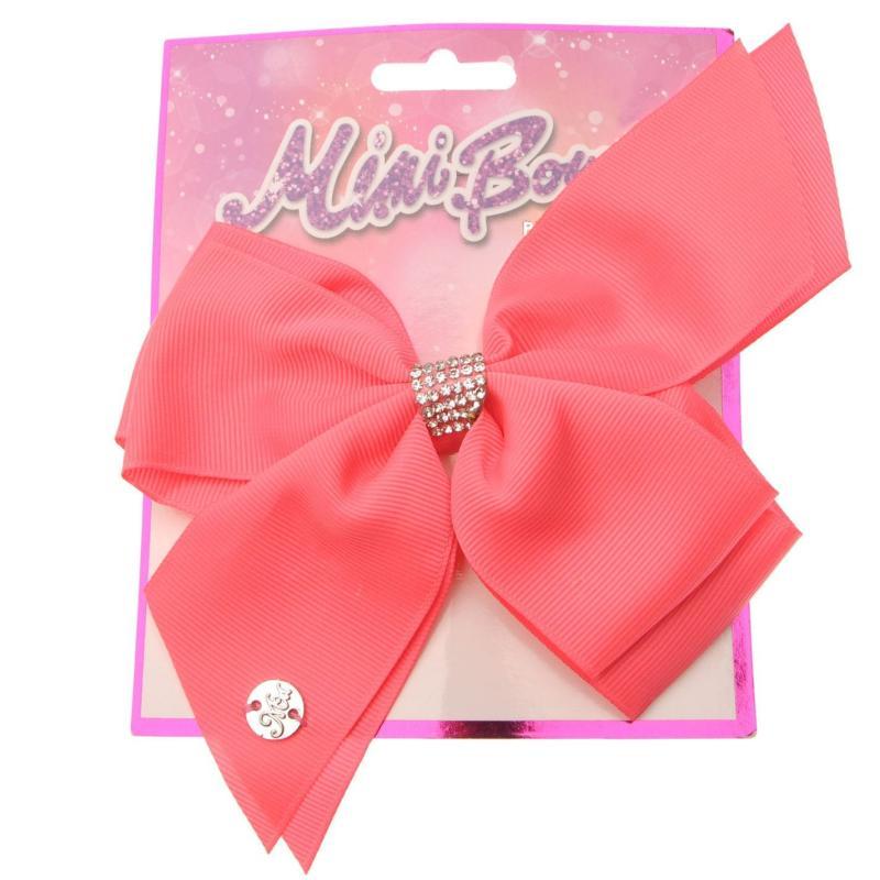 Miso MiMi Hair Bow Junior Girls White Diamante
