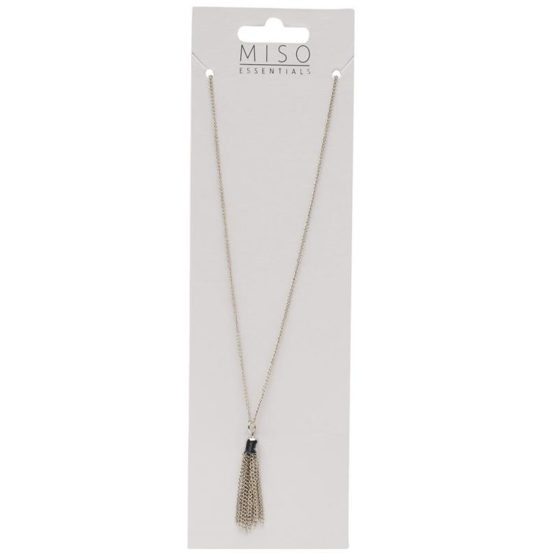 Miso Tassel Necklace Ladies Silver