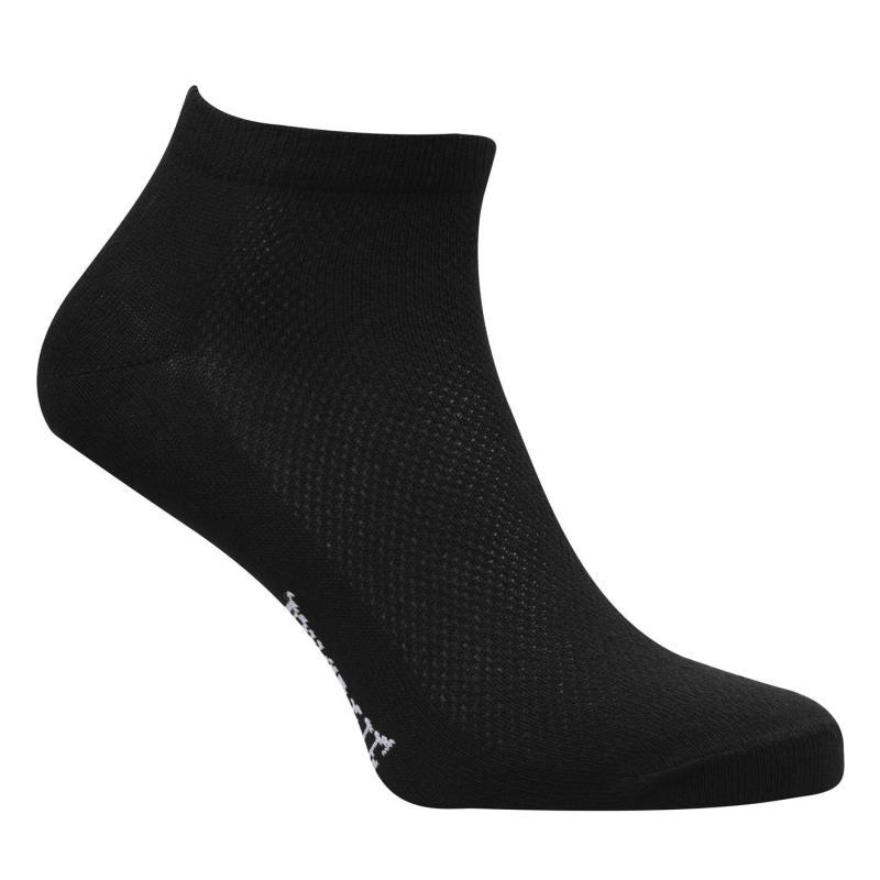 Ponožky Lonsdale 5 Pack Trainer Socks Mens Black