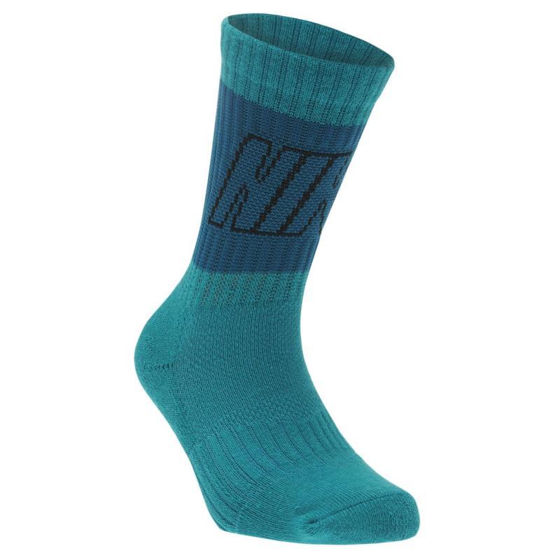 Ponožky Nike Fly 3 Pack Crew Socks Child Boys Bright Crimson