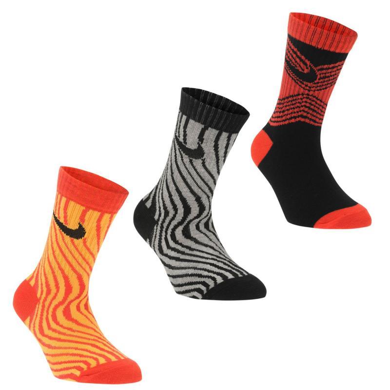 Ponožky Nike Print Crew Socks Child Boys Light Crimson