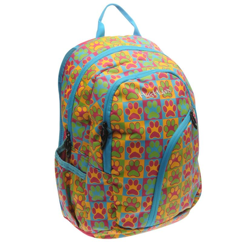 Highland Paws Backpack Pink/Multi