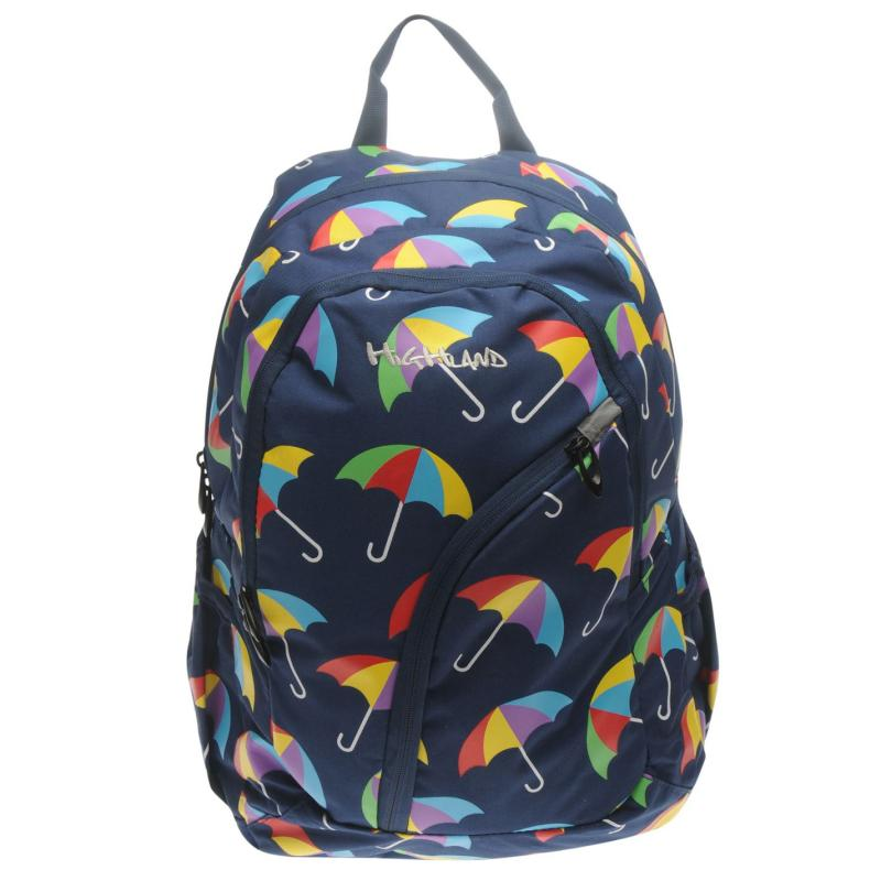 Highland Umbrella Backpack Navy/Multi