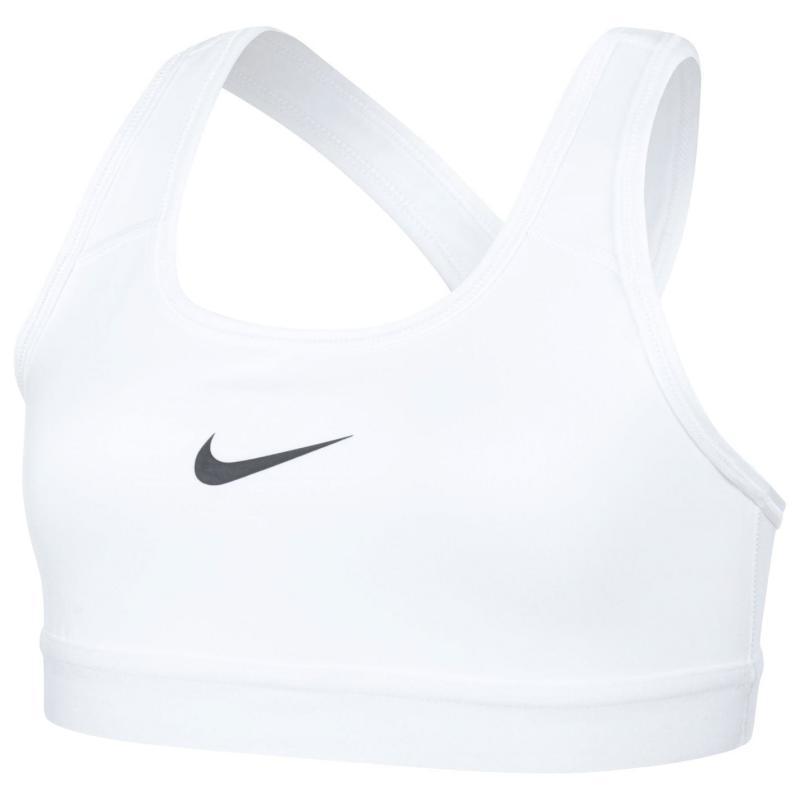 Nike Pro Sports Bra Junior Girls WHITE/WHITE/WHITE/PURE PLATINU