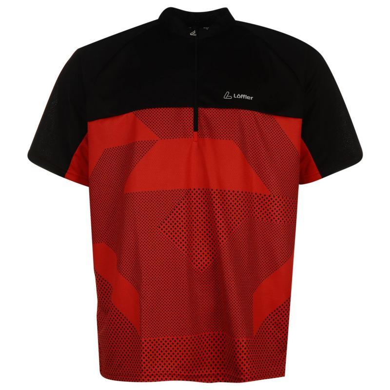 Tričko Löffler Cycling Jersey Mens Red/Black