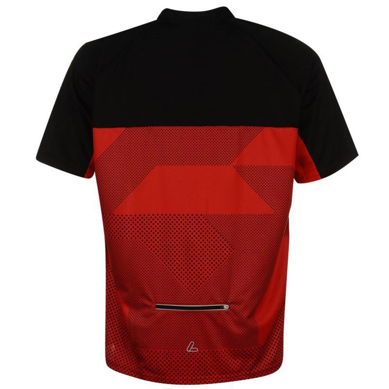 Tričko Löffler Cycling Jersey Mens Red/Black
