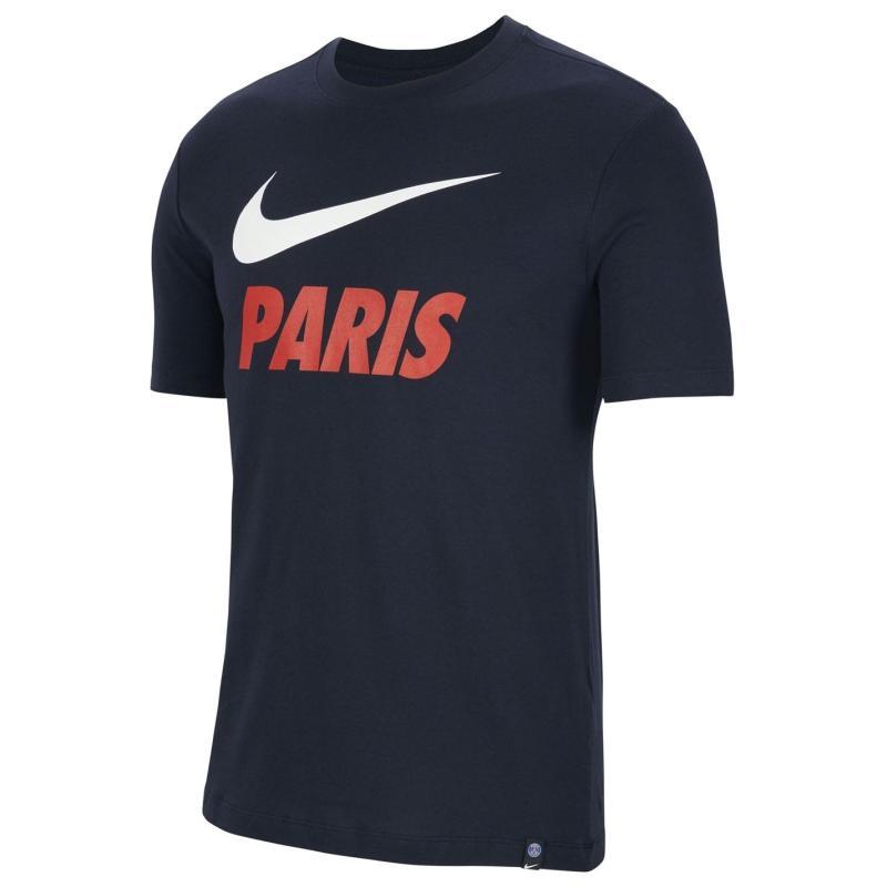 Nike Paris Saint Germain Training T Shirt Mens Navy