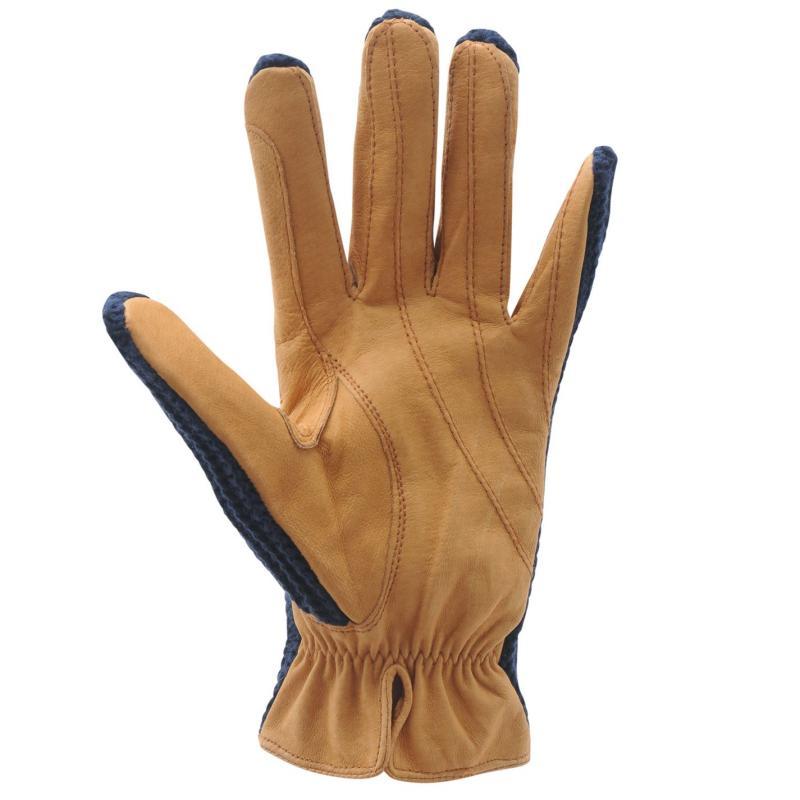 Requisite Crochet Gloves Ladies Navy