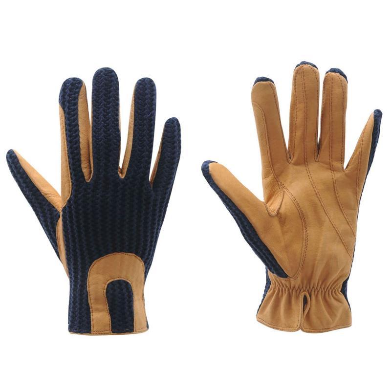 Requisite Crochet Gloves Ladies Brown/Tan