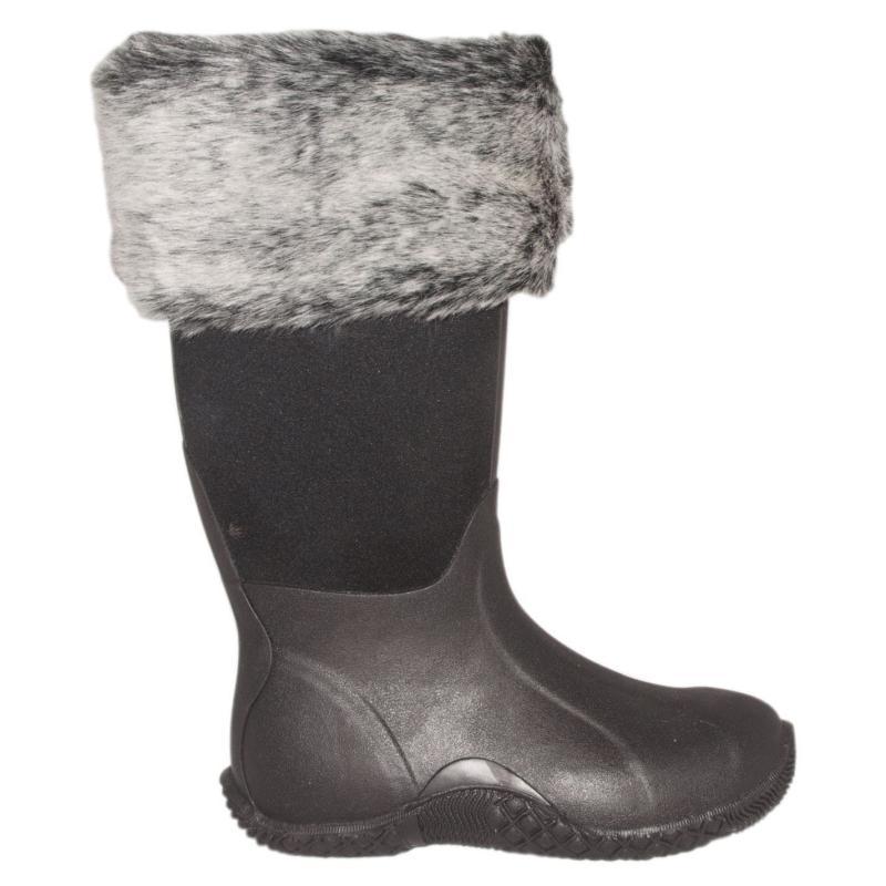 Ponožky Requisite Espresso Faux Fur Boot Toppers One Size -