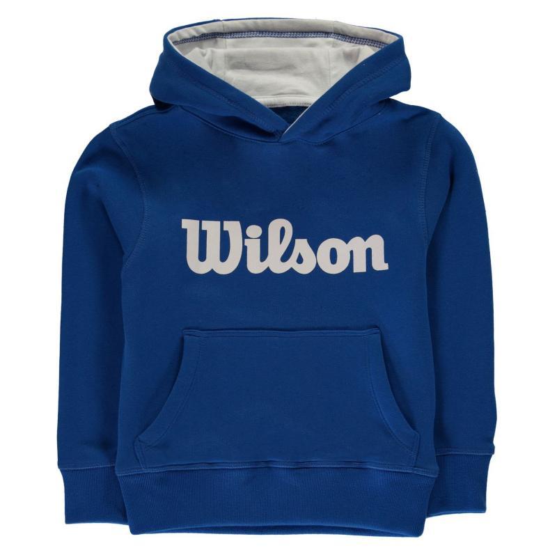 Mikina Wilson Script Hoodie Junior Boys Blue