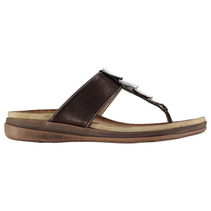 Boty Beppi Toe Sandals Ladies Brown