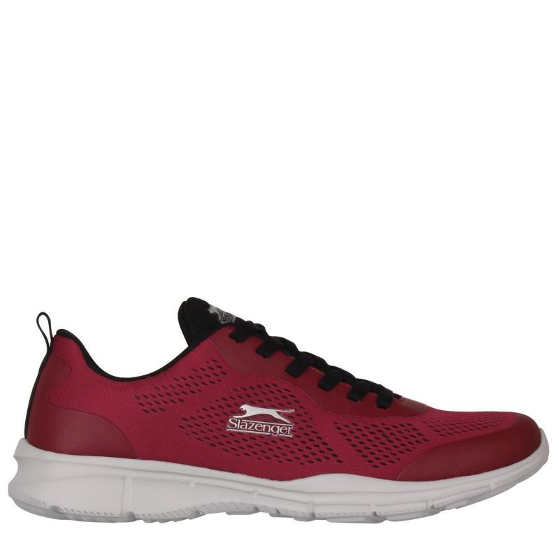 Slazenger Jigsaw Trainers Mens Burgundy