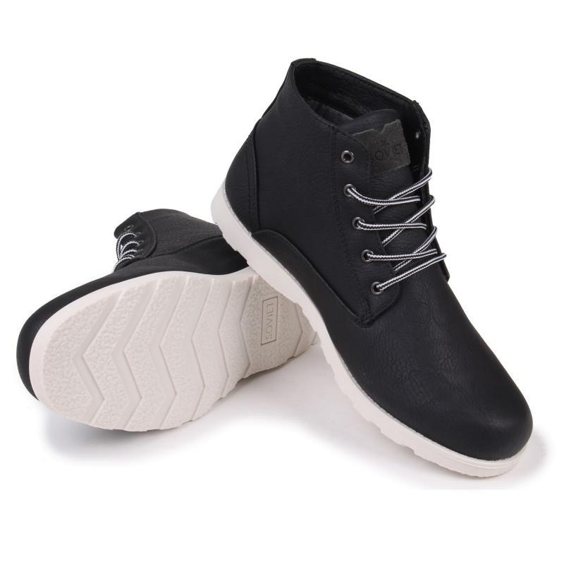 Boty Soviet Remix Mens Boots Black/White