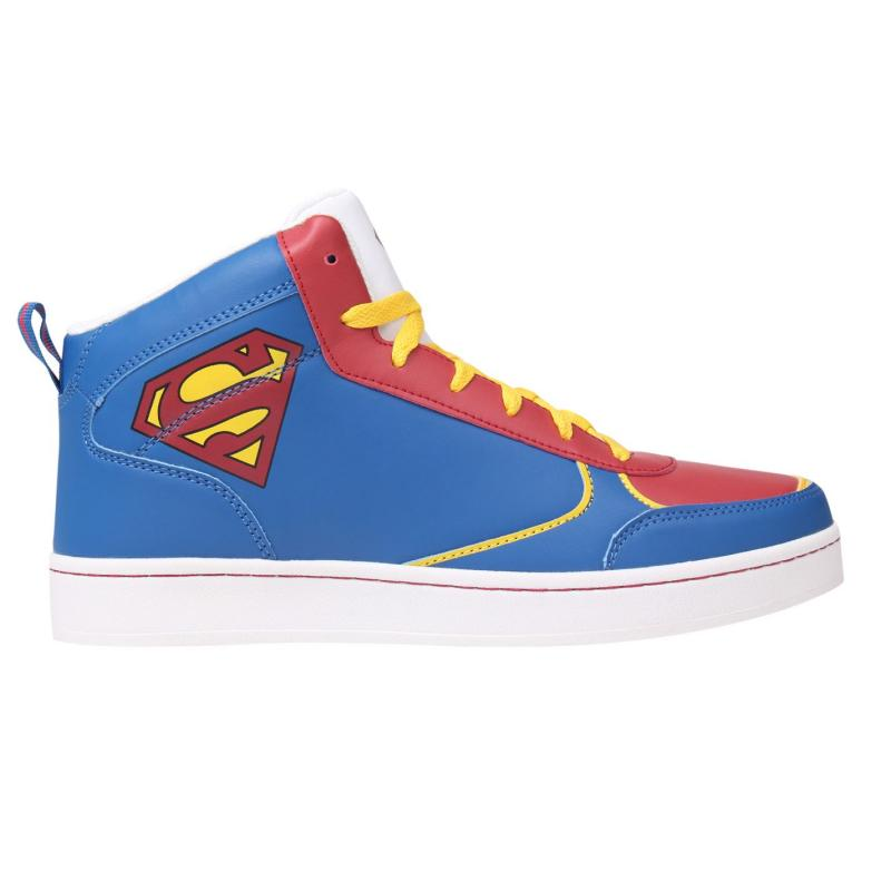 DC Comics Superman Hi Top Mens Blue